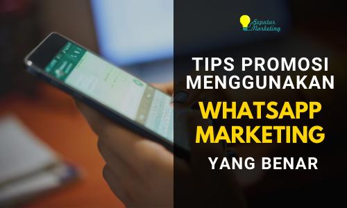 tips promosi lewat whatsapp